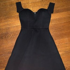 Off the shoulder black dress